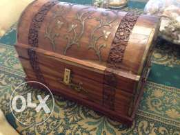 carved wooden boxes set of 3 طقم صندوق خشب منحوت باليد مزخرفoriginal