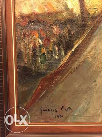 original oil painting by famous artist georges Cyr جبيل -  3