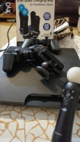 PS 3 good price+exellent condition+2 joystick + ps move + cam