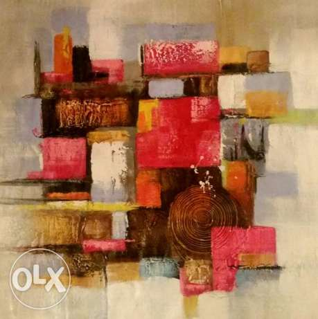 Oil Painting - Huile sur Toile - Abstract World - 100 cm x 100
