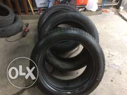 X5 Tires Flat Free Michelin and Continental ( Qty 3 ) for 90$