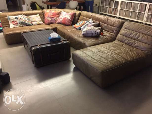 leather 4 part couch