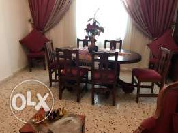 salon, dining room and curtain for sale