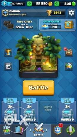 account clash royal for sale