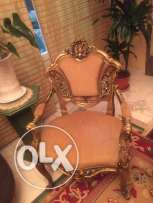 6 armchairs & 1 table
