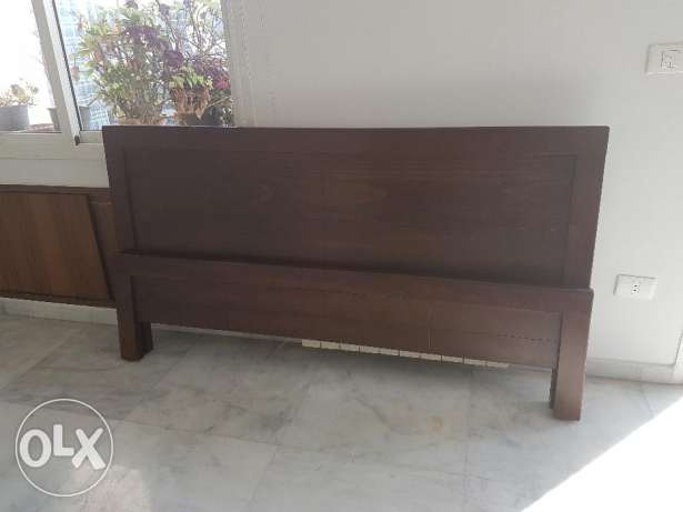 Hard wood king size bed + mattress