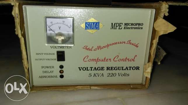 Sima Voltage Regulator 5 KVA 220V INTEL INSIDE