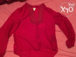 red thin top h&m
