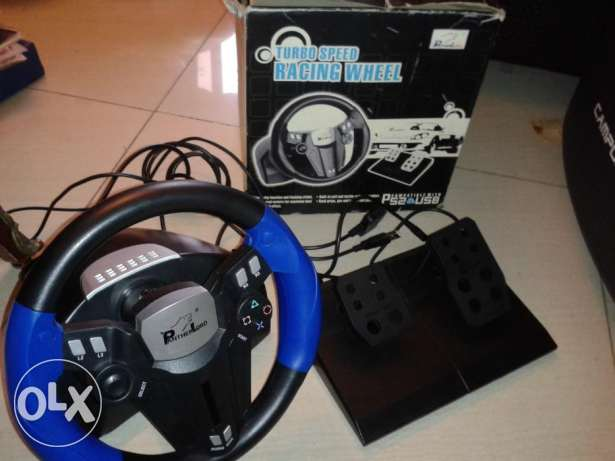 ps1 - ps2 - pc steering wheel + clutches never used in box