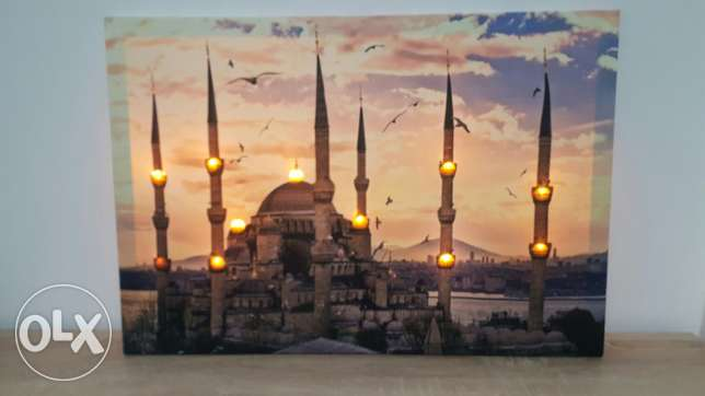 picture frame of turkish mosque new with lighting 50,000alf