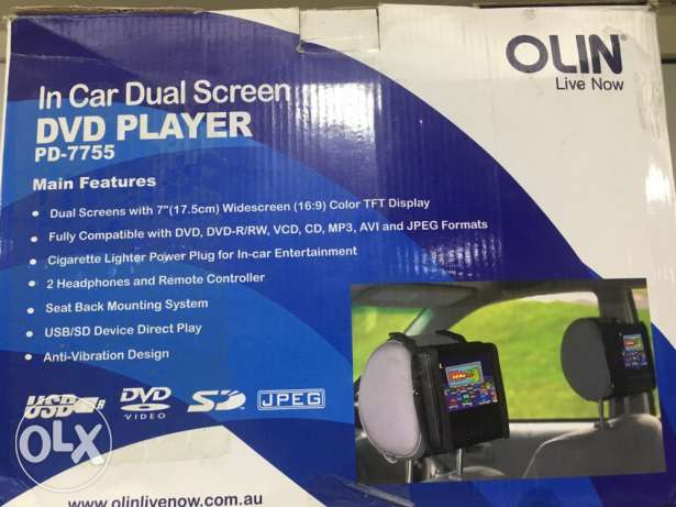 Dual screen DvD player brand new