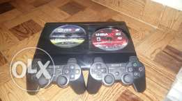 Ps3 2 controllers + 2 games + all wires (GOOD CONDITION)200$