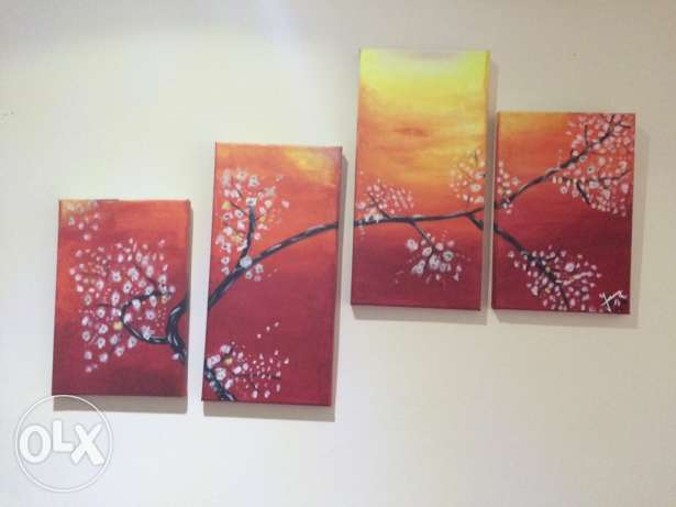 Acrylic paintings each for 150$ فنار -  1