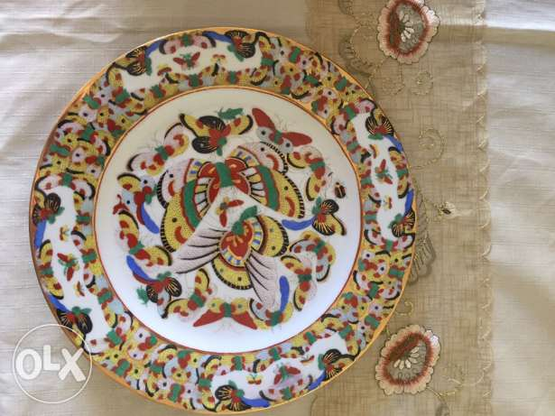 Antique Chinese dishes gold paiting