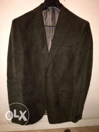 Dark Khaki Blazer Men Size IT 48