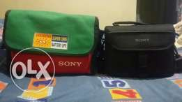2 sony cameras bags