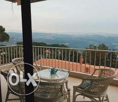 4 Bedrooms flat + Big garden for rent in Baabdat Schalimar Metn