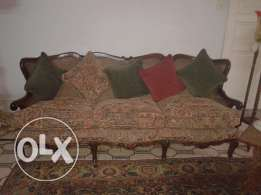 Rare classic 3 seater sofa with 2 matching chairs