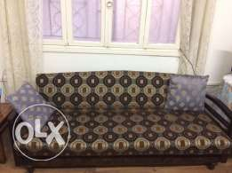 3 seated sofa bed and 1 single Salon