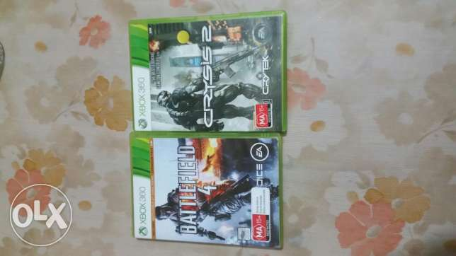Xbox 360 original cds battlefield and crysis 2