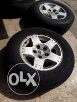 """17"""" rims and tires for dodge truck"""
