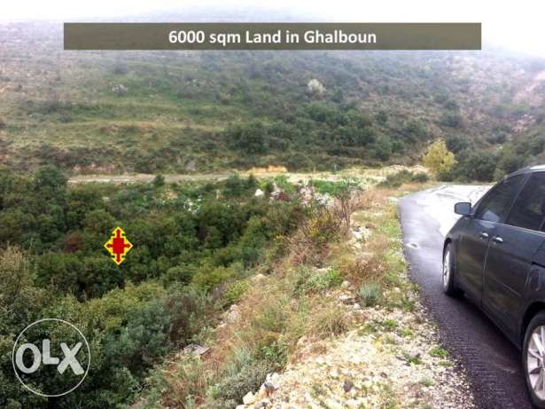 Ghalboun 6,000 meters land on main road with amazing views
