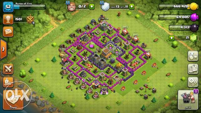 Clash of clans for sale 55 الالف لبناني