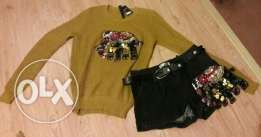 Winter shorts and tops with handmade designs