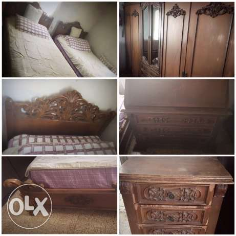 Vintage Bedroom and a Living Room(mid condition)غرفة نوم قديمة و صالون