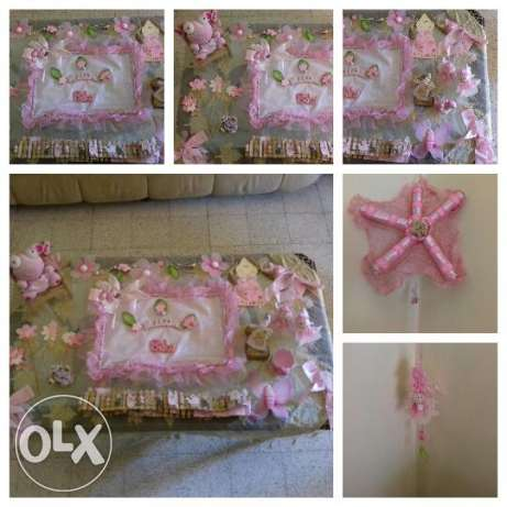 Newborn Baby Girl Decoration and Door Hanger: now at LOWER price