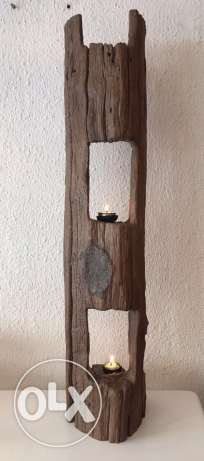 candle holder wood