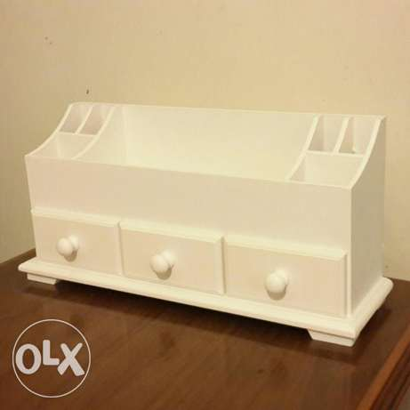 wooden vanity for accessories