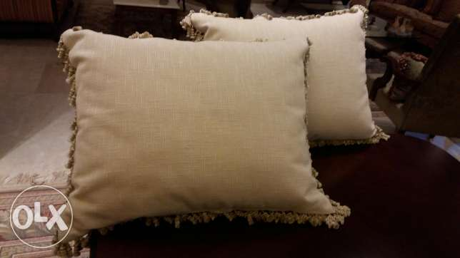 Big and small cushions