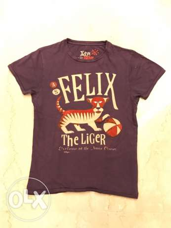 T-shirt with tiger design