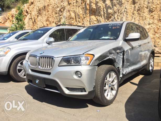 BMW X3 3.5 Silver 2012 Fully Loaded 45,000 Mile