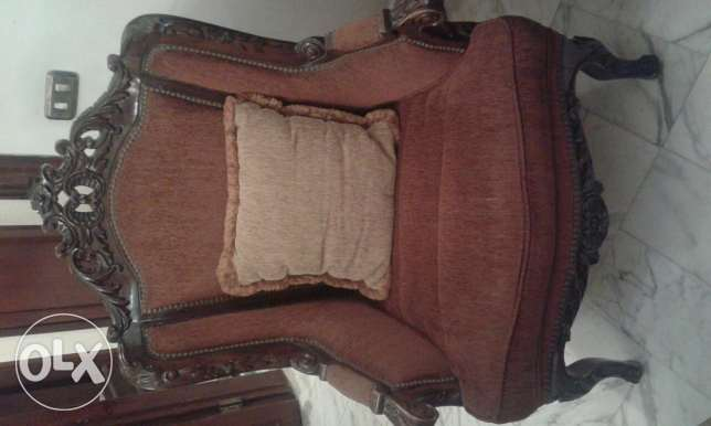 2 arm chairs for sale, handmade مصطبة -  1