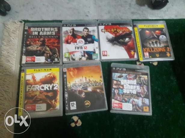 ps3 games for sale in a great condition