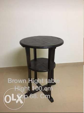 Brown high table رابية -  1