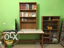 Library and desk (3pcs)