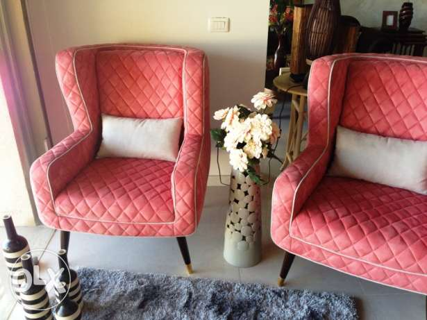 NEW Unique Armchairs set of two: