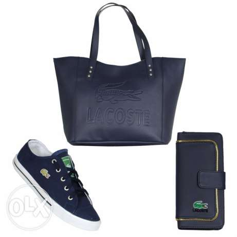 lacoste set 3 pcs for 55$ delivery all over lebanon