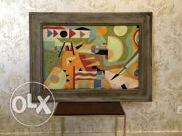 Silk-Thread Hand-woven Picasso painting 110 cm by 82 cm for $300