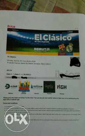 El Clasico Of The Legends April 28 2017 Ticket Gate 2-1 : 50 000 L.L