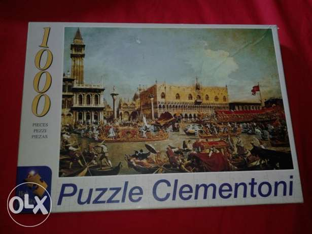 "puzzle made in italy 1000pcs ""canaletto bucintoro"" size 68*48 cm"