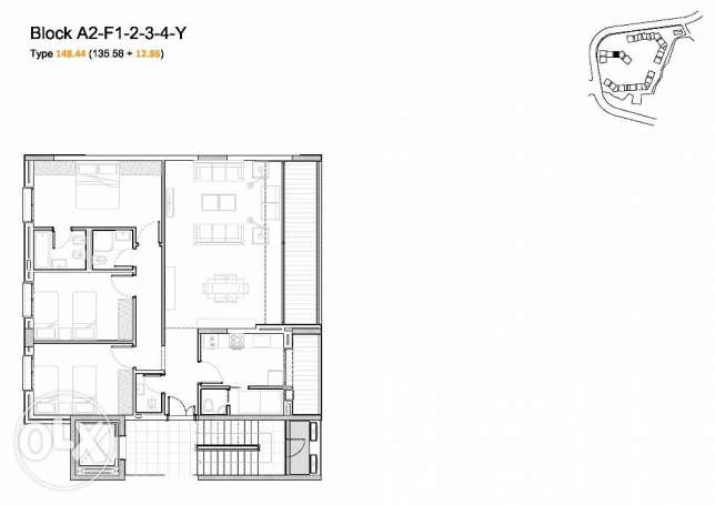 Under Construction apartment for sale Beit Mery 148sqm بيت مري -  8