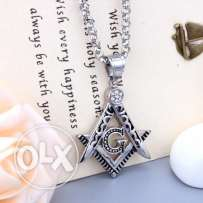 masonic stainless steel necklaces for men