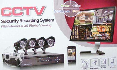 Cctv security cameras recording