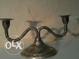 old english candleholder, silver, 25$