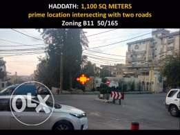 Haddad 1,239 meters prime location great shape size zoning