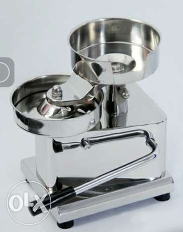 Hamburger press machineمكبس همبرغر